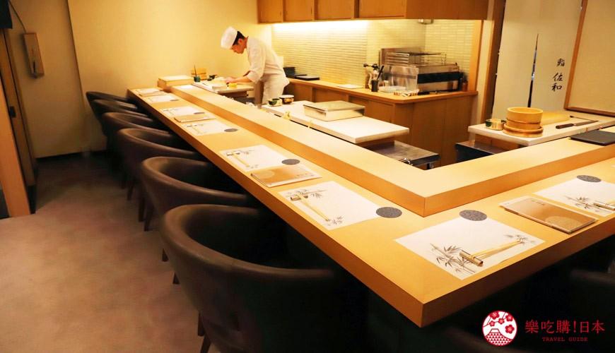 東京新宿歌舞伎町高級壽司店推薦「鮨佐和」的店內用餐環境