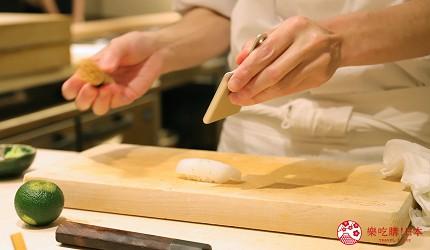 東京新宿歌舞伎町高級壽司店推薦「鮨佐和」的壽司職人壽司裝盤中