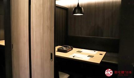東京吃和牛涮涮鍋推薦新宿「しゃぶ匠 一二新宿」的室內空間環境之一