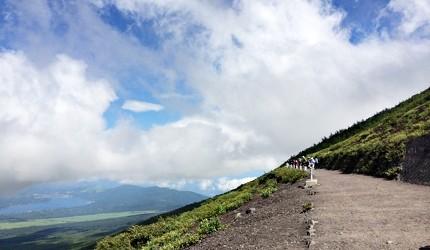 日本富士山的其中一條登山路徑