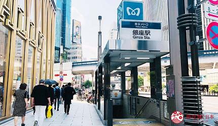 東京推薦高級日本料理店「銀座一」的交通方式步驟一