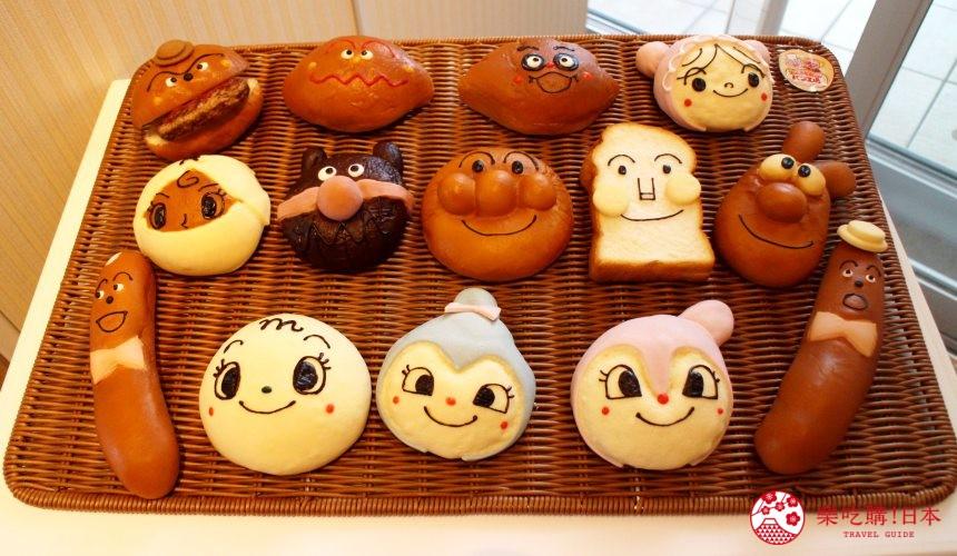 橫濱麵包超人博物館「果醬叔叔的麵包工廠」造型麵包