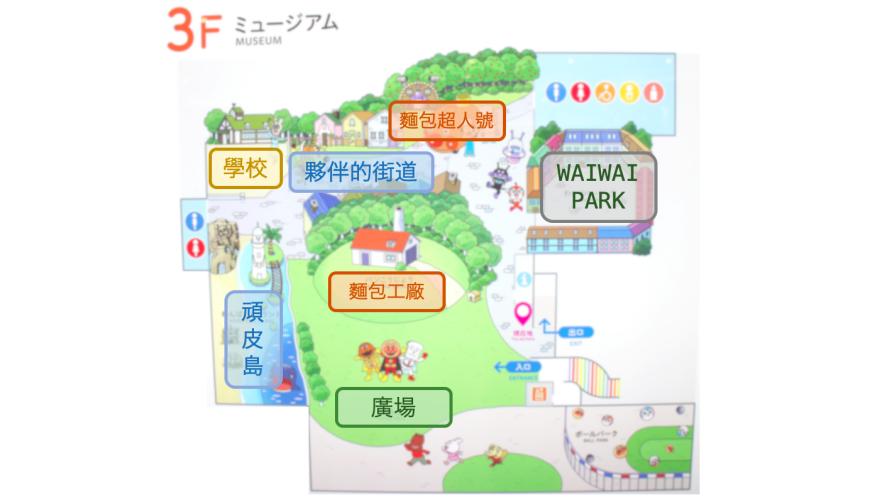 橫濱麵包超人兒童博物館三樓地圖