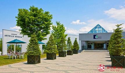 東京近郊長野景點安曇野玻璃藝術館ArtHillsMuseum
