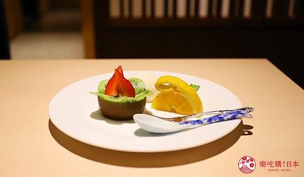 東京神樂坂必吃螃蟹會席料理「美山 神樂坂」的美山套餐(美山コース)的甜點季節水果