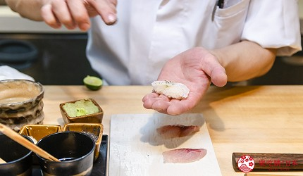 东京惠比寿高级寿司店推荐「鮨 おぎ乃」师傅握寿司中