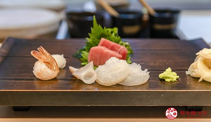 東京惠比壽高級壽司店推薦「鮨 おぎ乃」套餐「特上おまかせ握りコース」的生魚片拼盤