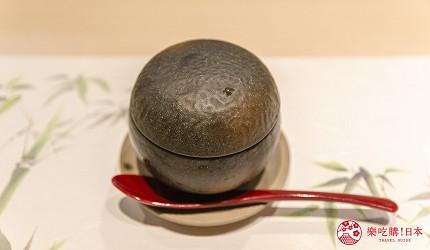東京惠比壽高級壽司店推薦「鮨 おぎ乃」套餐「特上おまかせ握りコース」的冷製茶碗蒸