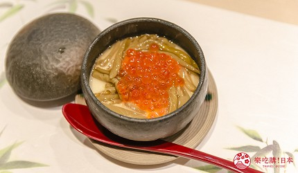 东京惠比寿高级寿司店推荐「鮨 おぎ乃」套餐「特上おまかせ握りコース」的冷制茶碗蒸