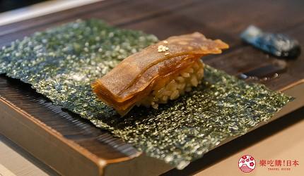 东京惠比寿高级寿司店推荐「鮨 おぎ乃」套餐「特上おまかせ握りコース」的寿司卷(巻物)的葫芦条寿司卷
