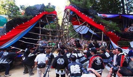 東京近郊長野景點安曇野穗高神社御船祭