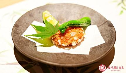 東京三田超強CP值居酒屋「樋口」的「翠」套餐的【合肴】趣炸蝦餅遠照