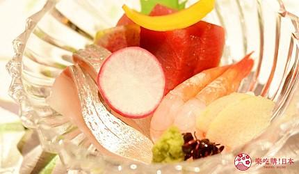 東京三田超強CP值居酒屋「樋口」的「翠」套餐的生魚片拼盤