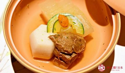 東京三田超強CP值居酒屋「樋口」的「翠」套餐的冷製煮物近照