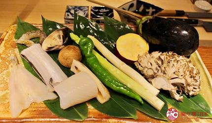 东京推荐天妇罗店「天ぷら きく元」使用的当季蔬菜