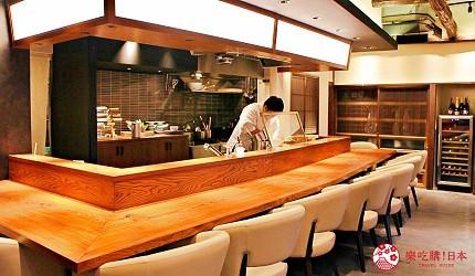 东京推荐天妇罗店「天ぷら きく元」吧台区