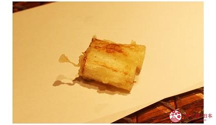东京推荐天妇罗店「天ぷら きく元」的「无菜单乃木坂套餐」(店主おまかせ 乃木坂コース)的青芦笋天妇罗