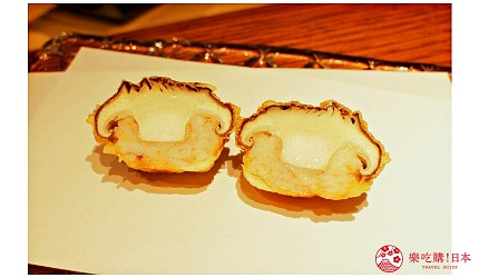 东京推荐天妇罗店「天ぷら きく元」的「无菜单乃木坂套餐」(店主おまかせ 乃木坂コース)的香菇鲜虾泥