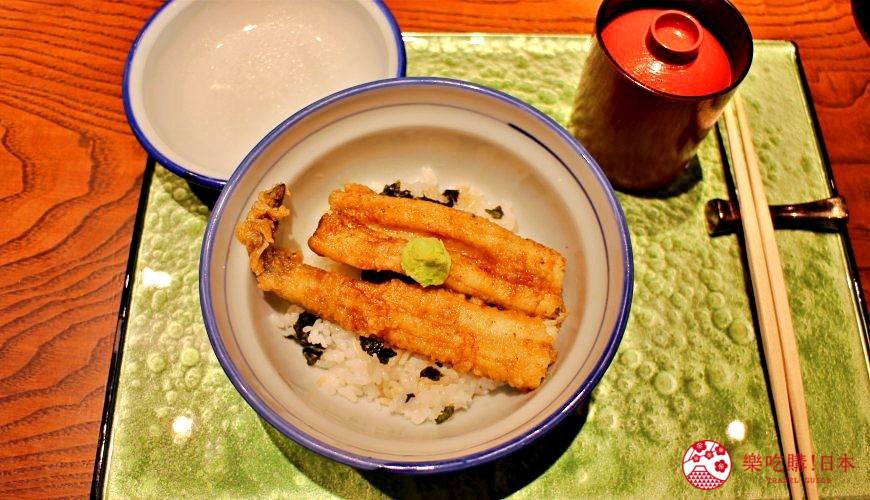 东京推荐天妇罗店「天ぷら きく元」的「无菜单乃木坂套餐」(店主おまかせ 乃木坂コース)的鳗鱼丼