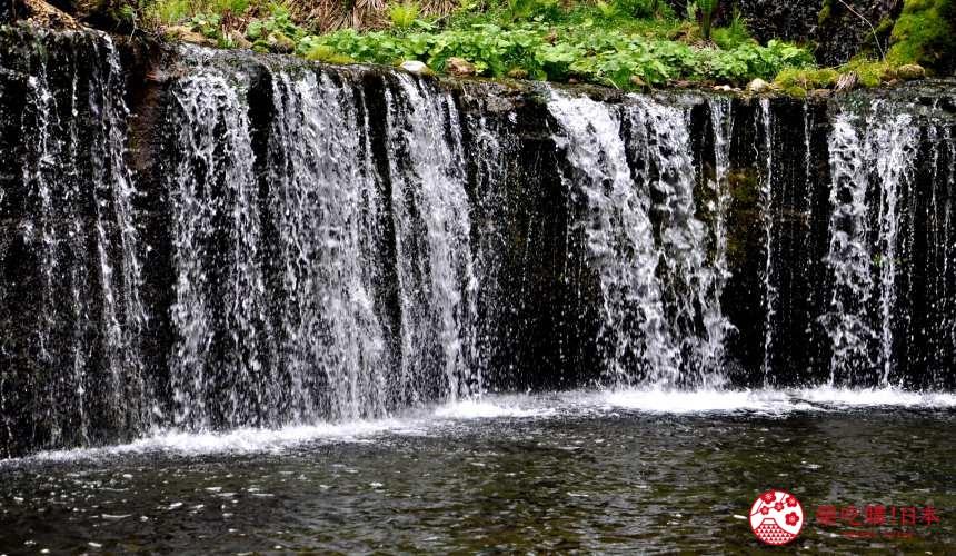 輕井澤自由行一日遊最完整攻略的白絲瀑布示意圖