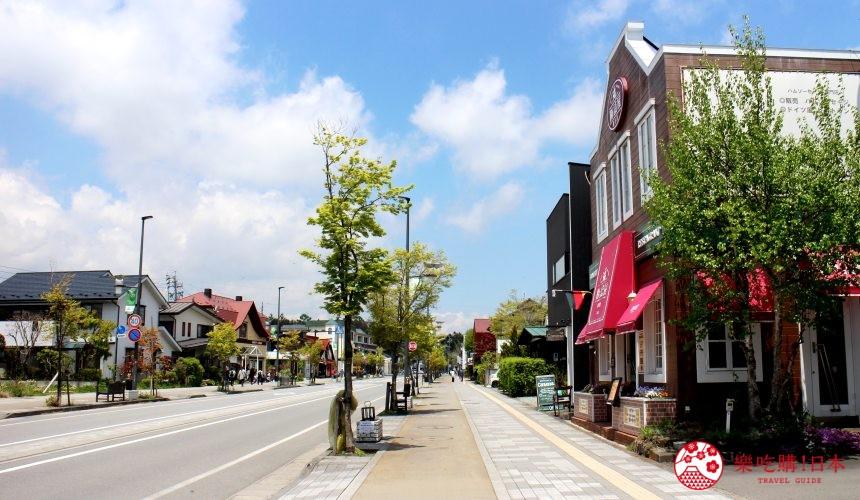 輕井澤自由行一日遊最完整攻略的輕井澤街景示意圖