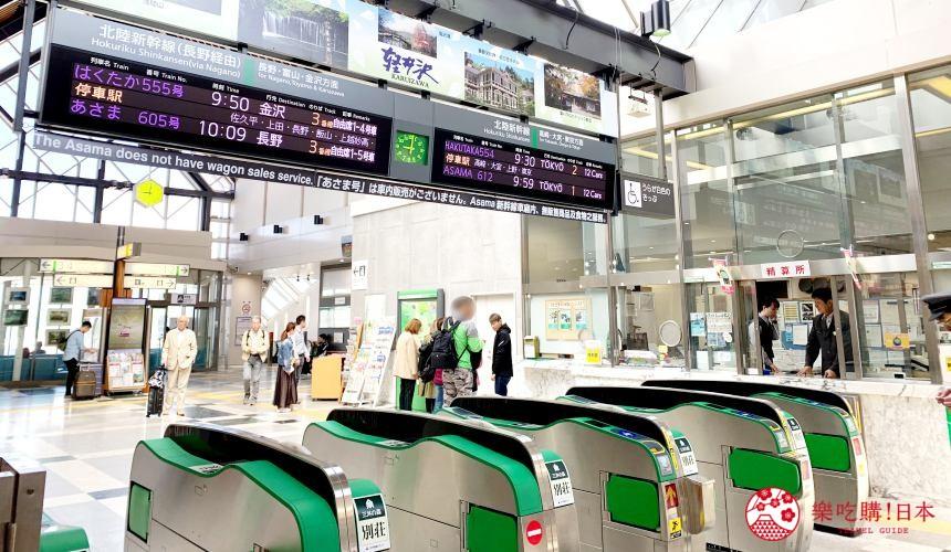輕井澤自由行一日遊最完整攻略的輕井澤車站站內示意圖