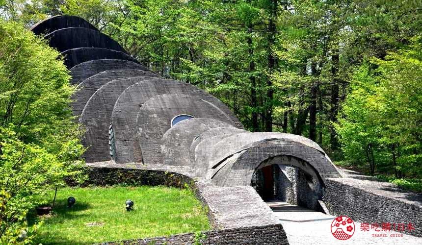 第一次輕井澤自由行就上手最完整攻略的石之教堂示意圖