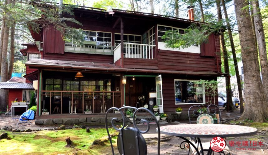 輕井澤一日遊好玩景點推薦的「舊輕井澤 Cafe 涼之音」的外觀