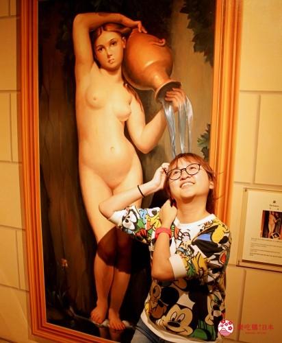 輕井澤一日遊好玩景點推薦的「錯視美術館」室內錯視空間