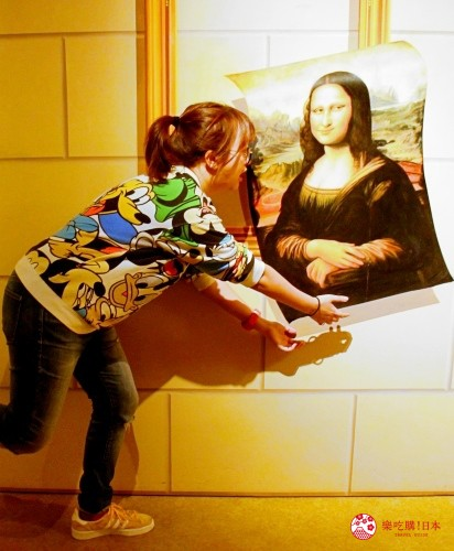 輕井澤一日遊好玩景點推薦的「錯視美術館」室內鯊魚錯視空間
