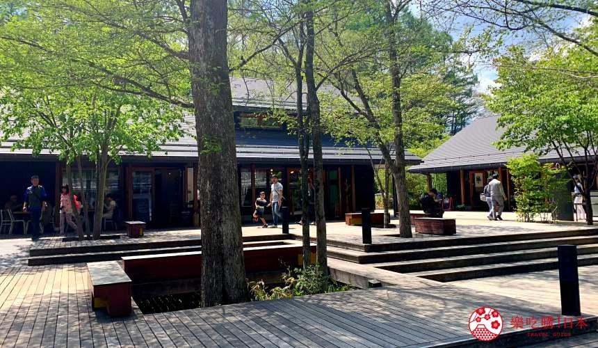 輕井澤一日遊好玩景點推薦的「榆樹街小鎮」的一景