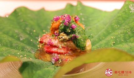 東京推薦高級日本料理店「銀座一」的野趣橫生食材協奏套餐(野趣溢れた食材が奏でるコース)的開胃菜