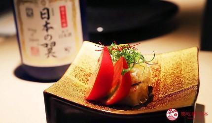 東京六本木必吃高級壽司「鮨 水月」的特上主廚精選套餐(特上おまかせコース)的蟹肉千層