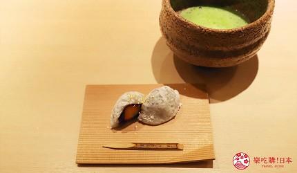 東京推薦高級日本料理店「銀座一」的野趣橫生食材協奏套餐(野趣溢れた食材が奏でるコース)的自家製草莓紅豆大福
