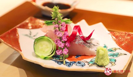 東京推薦高級日本料理店「銀座一」的野趣橫生食材協奏套餐(野趣溢れた食材が奏でるコース)的真子鰈與伊佐木生魚片