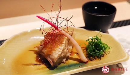 東京六本木必吃高級壽司「鮨 水月」的特上主廚精選套餐(特上おまかせコース)的烤鮪魚下巴