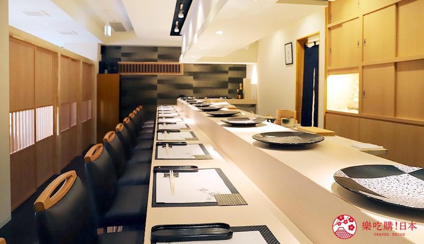 東京六本木必吃高級壽司「鮨 水月」的用餐環境