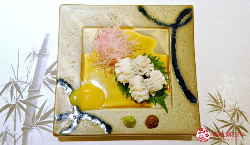 横滨高级寿司店必吃推荐「鮨 七海」的「お任せ握りコース」套餐的海鳗小菜