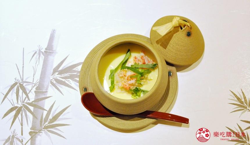 横滨高级寿司店必吃推荐「鮨 七海」的「お任せ握りコース」套餐的雪蟹茶碗蒸