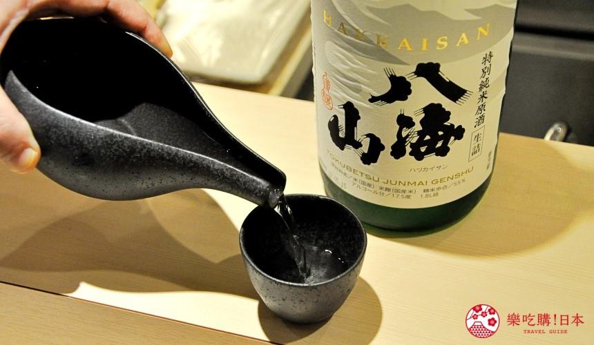 横滨高级寿司店必吃推荐「鮨 七海」店家提供的日本酒
