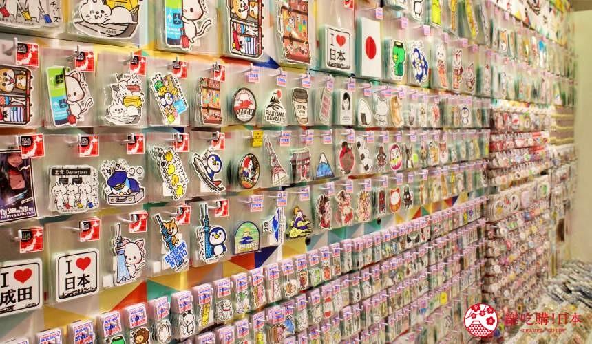 成田機場內的Stylish Travel店內出售大量貼紙