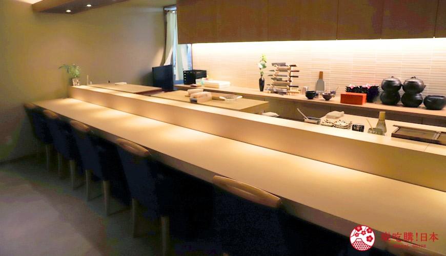 東京推薦高級日本料理店「銀座一」的用餐空間