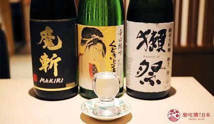 東京神樂坂必吃螃蟹會席料理「美山 神樂坂」的日本酒