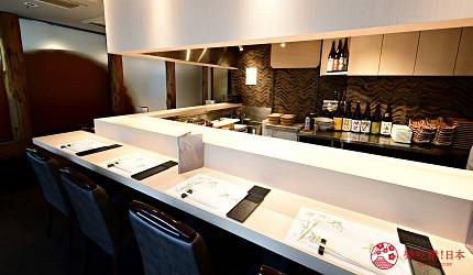 东京滨松町站高级寿司推荐「鮨 佐竹」店家的店内环境