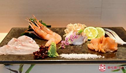 东京滨松町站高级寿司推荐「鮨 佐竹」的「极上おまかせ握りコース」套餐的生鱼片