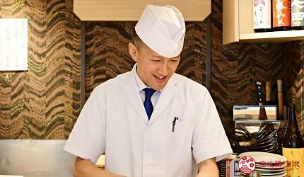 东京滨松町站高级寿司推荐「鮨 佐竹」店家寿司师傅料理长