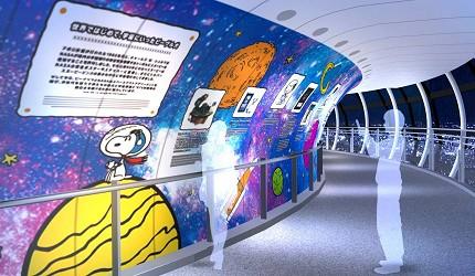 東京展覽活動東京晴空塔史努比展太空人史努比展
