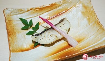 東京上野必吃高級壽司店「すし尽誠」的「おまかせコース」的銀鱈西京燒
