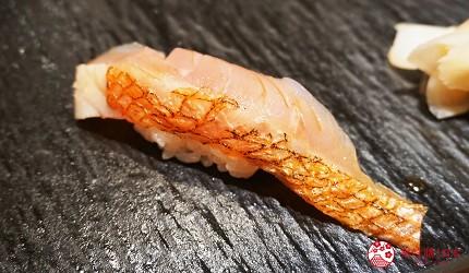 東京上野必吃高級壽司店「すし尽誠」的「おまかせコース」的金目鯛壽司