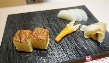 東京上野必吃高級壽司店「すし尽誠」的「おまかせコース」的玉子燒